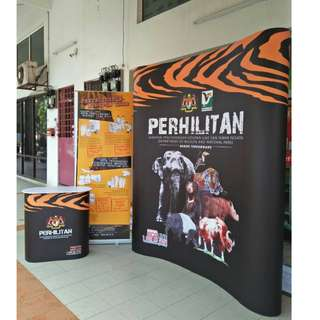 Set Pameran Pemasaran Titanium B2 Pop-Up