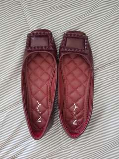MAROON RED ballet shoes MY