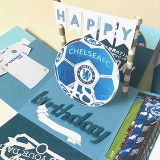 🚚 Happy 48 birthday Chelsea football Explosion Box card