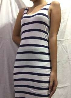 H&M Fitted Striped Dress