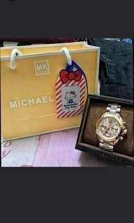Michael Kors - MK 手錶 時尚玫瑰金圓盤日曆女錶 MK5799/專櫃盒裝附提袋