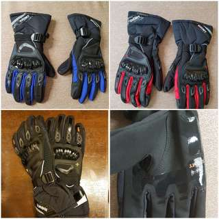Suomy Waterproof Motorcycle Gloves, M-XXL