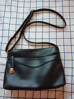 Secosana Black Leather Shoulder bag