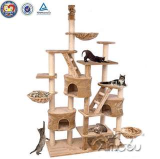 XL Large Cat / Kitten Treehouse Condo Scratching Post