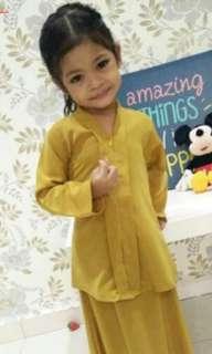 Baju kebaya mustard gold
