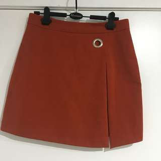 Orange skirt size 8