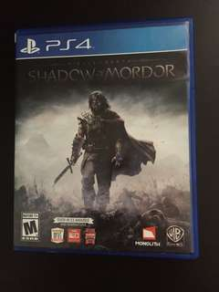 PS4 Shadow Of Mordor (Used Excellent Condition)