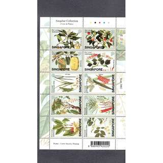 Farquhar Collection  Miniature Sheet  --- FRUITS   &   PLANTS