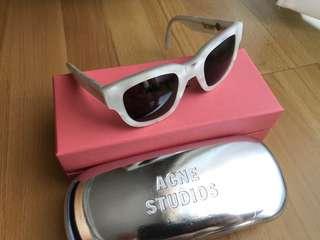 Acne Studio White Acetate Frame Metal Sunglasses