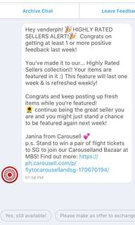 ❤️ Thank you for this, Carousell! ❤️