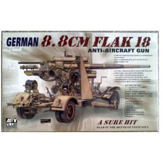 Brand New - AFVClub 1/35 - German 8.8cm Flak 18 Anti-Aircraft Gun Model Kit