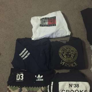 Crooks And Castles, Fake Versace, Adidas Size L