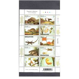 Farquhar Collection Miniature Sheet  ---  ANIMALS  &  REPTILES