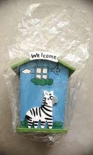 cute zebra piggy bank