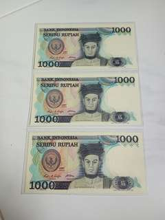 1000  BANK  INDONESIA - 1987