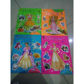 BUKU STIKER BUKU ANAK BUKU PRINCESS BUKU SPANYOL BUKU TEMPEL sticker book childrens book playing book