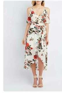 Cold shoulder dress floral