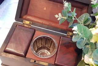 Antique teacaddy in lovely condition