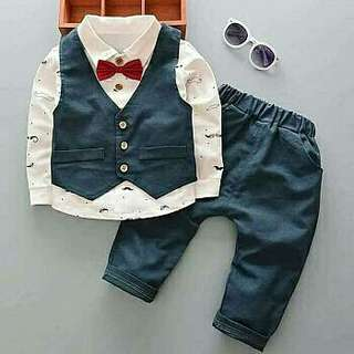 vo set jordan navy kid  SETELAN