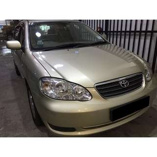 01/06/2018 - 04/06/2018 TOYOTA ALTIS ONLY $180 (P PLATE WELCOME)
