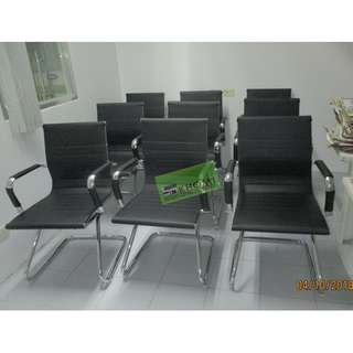 RS 702A HIGH-END VISITORS CHAIRS BLACK LEATHERETTE