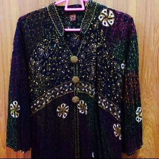 Batik Embellishment Cotton Top