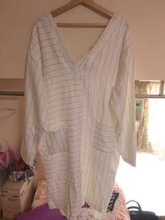 🚚 正韓-直條長版襯衫
