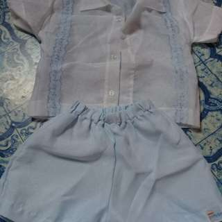Christening Top and Short