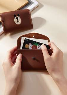 韓國正品 Line Friends Brown 熊大 咭片套 card holder