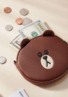 韓國正品 Line Friends Brown 熊大 散紙包 coin purse