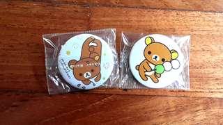 rilakkuma badges