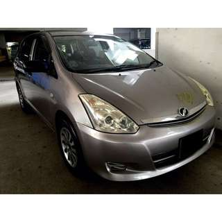 01/06/2018 - 04/06/2018 TOYOTA WISH ONLY $240 (P PLATE WELCOME)