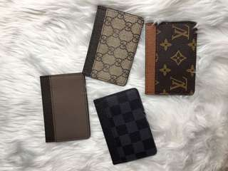Lv and gucci card holder wallet