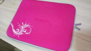 Pisen電腦袋內膽包保護套毛套 14寸 粉红色