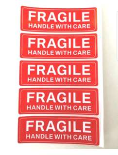 [Instocks] Fragile stickers