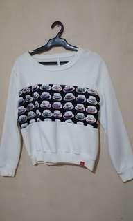 Bazaar White Sweatshirt