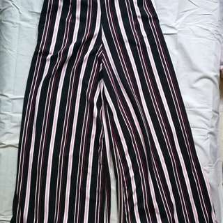 Black and Pink Wide Pants