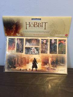 New Zealand The Hobbit first day cover with 7 gummed stamps