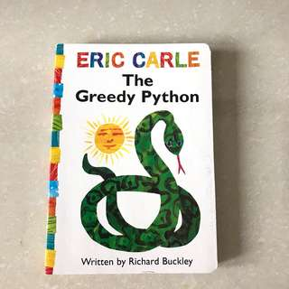 eric carle the greedy pyton children book boardbook buku anak buku import buku cerita inggris