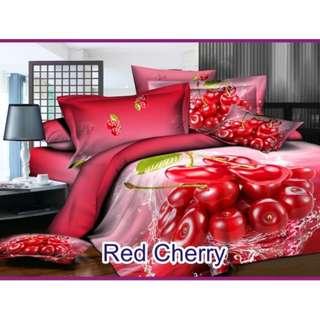 Sale Set bedcover bahan microtenzel ukuran 180x200