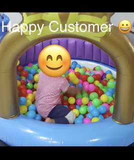 500 Colourful Plastic Balls for Babies and Kids