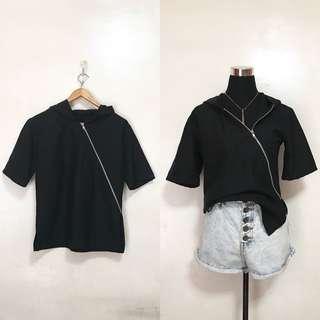 [Preloved] Oversized Zip Hoodie Shirt