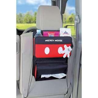 🚚 「日本帶回」正版 米奇 多功能後座置物袋 收納袋 面紙盒套 迪士尼 NAPOLEX