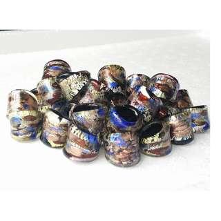 Mini Murano Glass Rings (Min. 2 pieces)