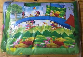 Disney and Pooh king size quilt set