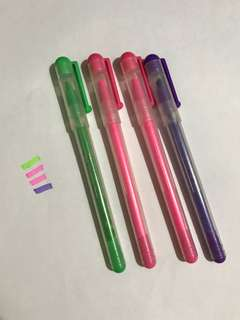Brand new colourful highlighter pen stationery