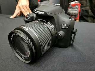 Kamera DSLR Canon EOS 1500D kredit bunga 0% tenor 6 9 12 bulan terbaru