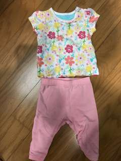 Mothercare shirt and legging set
