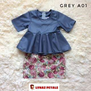 Grey Peplum with Skirt