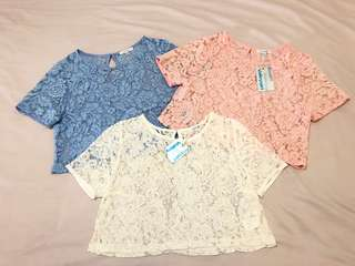 Crop lace tops
